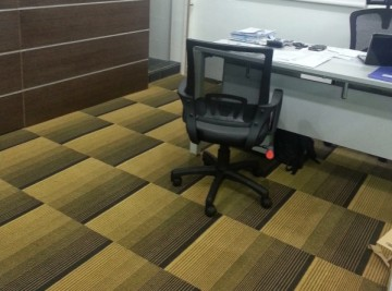 Allianz office carpet tiles flooring project